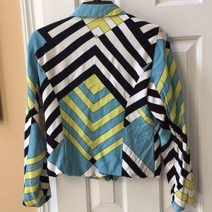 Lorizoni vintage/shoulder pads/full-lined 100%silk